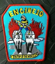 OLD NEW YORK FIRE ENGINE 10 MANHATTAN ON TOP OF THE WORLD WTC PRE 9-11 PATCH NEW