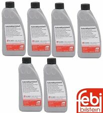 Set of 6 Quarts 236.14 Red Auto Trans Oil Fluid Febi For Mercedes Jaguar Dodge