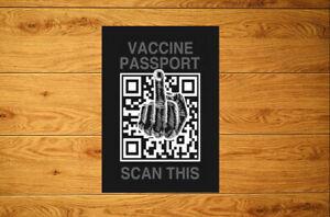 Vaccine Passport Scan This Sticker Packs (10-100)  Anti Vax Vaccine Conspiracy