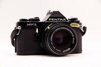 🎁📸 Pentax MV1 Kamera • Asahi SMC Pentax-M 1:2 50mm Objektiv Lens • 35mm Analog