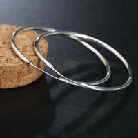 ASAMO Damen Ohrringe große Creolen 50 oder 60 mm 925 Sterling Silber plattiert
