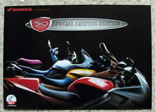HONDA 50th ANNIVERSARY Motorcycles Sales Brochure 1998 ST1100  VFR  XL600V