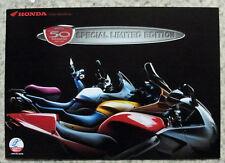HONDA 50th ANNIVERSARY Motorcycles Sales Brochure 1998 ST1100  VFR  XL600V