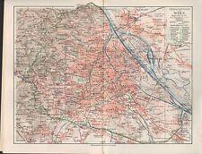 Landkarte city map 1910: Plan ÜBERSICHTSPLAN VON WIEN. Umgebung Innere Stadt