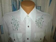 H Bar C Ranchwear Fancy Long Tail Sheer Pearl Snap Western Embroidery Shirt 33