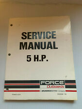 FORCE MERCURY OEM FACTORY MANUAL 5 hp  1988 and Newer