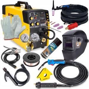 5in1 MIG / MAG / FCAW / MMA / TIG Schweissgerät 220A Inverter Elektroden / Satz