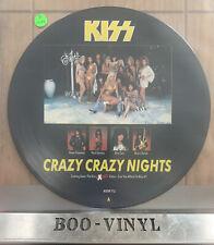 "Kiss Crazy Crazy Nights 12"" vinyl Picture Pic Disc 1987 EX+ Con Rare"