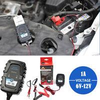Cargador de Batería para Coche y Moto 6V 12V Cargador Mantenedor Automático