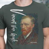 Men's T-Shirt Vincent Van Gogh Self-Portrait  XS~4X by Arteesty