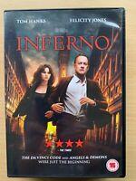 Inferno DVD 2016 Dan Brown Da Vinci Code Sequel with Tom Hanks + Felicity Jones