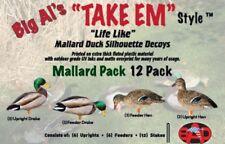 New - Big Al's Decoys - Mallard Pack- Silhouette Decoys - 12 Pack