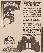 Z8524 Jumelle HUET - Paris - Pubblicità d'epoca - 1931 Old advertising