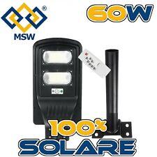 Lampione Giardino Stradale Faro LED Pannello Solare 60W Telecomando Giardino