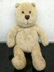 "Baby Gap Teddy Bear Plush 14"" Light Brown Stuffed Animal Bean Bag Legs Bottom"