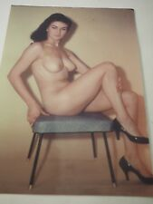 "Vintage Color Pin Up Photo measuring 8 x 12"" circa 1960"