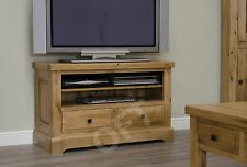 Montero living room 2 drawer television cabinet stand unit solid oak furniture