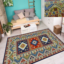 Teppich Carpet Modern Trendige Farben Vintage Retro Look Nordisch Blau 6 Größen