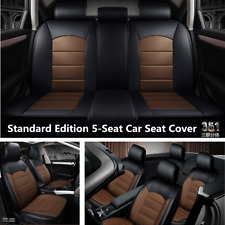Standard Edition 5-Seat Car Seat Cover Front&Rear PU Leather Full Set Breathable