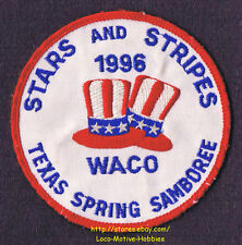 LMH Patch  1996 GOOD SAM CLUB Spring Samboree Rally  WACO TX Sams STARS STRIPES