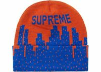 Supreme New York Beanie Dark Orange Blue SS20 NY Mets Knicks
