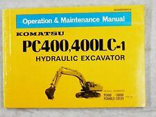 KOMATSU PC400, 400LC-1 OPERATION AND MAINTENANCE MANUAL