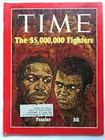 JOE FRAZIER & MUHAMMAD ALI $5 MILLION FIGHT! March 8, 1971 TIME Magazine