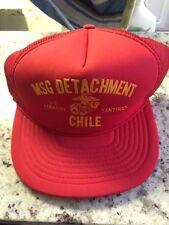 US Marine MSG Detachment Embassy Santiago Chile Cap Hat Vintage Snapback