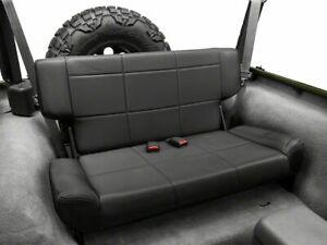 1997-2006 Jeep Wrangler Smittybilt Fold & Tumble Rear Seat Black 41515