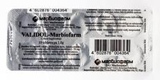 VALIDOL 10 Tablets (1 blister) Calming & Sedative Effects ANTI Stress, Neuroses