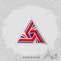 UK Alien Triangel Patch Iron On Patch Sew On Embroidered Patch
