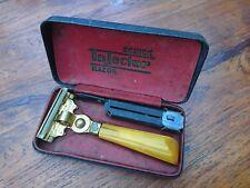 Nass Rasierer Schick Injector Razor Bakelit Griff Bernstein farbig US Patent