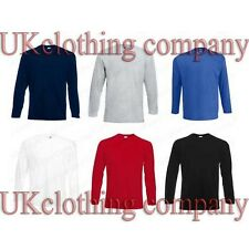 Fruit of the Loom Manches Longues Valueweight Adulte t-shirt coton - hommes