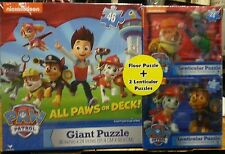 NEW NICKELODEON PAW PATROL ALL PAWS ON DECK GIANT PUZZLE  +2 LENTICULAR 94 PCS