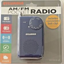 Sylvania Battery Operated Am/Fm Pocket Radio with Built-in Speaker New Blue