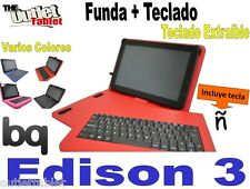 """FUNDA CON TECLADO TABLET BQ EDISON 3 10.1"""" Quad core  fundas TECLADO EXTRAIBLE"""