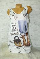 Italy New Kleid Shirt Long Top weiß Gr.36 38 40 blogger Pop Art High Heels Jeans