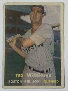 1957 Topps Ted Williams #1 Good - No creasing!