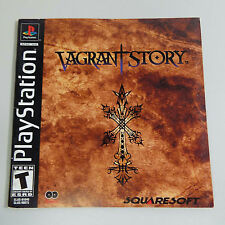 VAGRANT STORY (SONY PLAYSTATION 1) BOOKLET ONLY - NO GAME - (FRENCH) (C1400)
