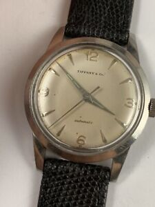 Rare VINTAGE MEN'S TIFFANY&CO MILITARY Steel AUTOMATIC WATCH