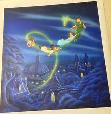 Original Painting Disney Artist Cindi Bothner Peter Pan Wendy Off to Neverland