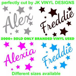 Personalised Name Stars Wall Sticker ⭐️ Boys Girls Kids Custom Vinyl Stickers ⭐️