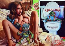 Cartel Ghoulies/Grandes Super Pesado impresión archival Rick Melton Fine Art