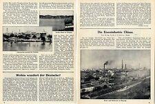 Die Eisenindustrie Chinas ( Hanyang-Tsingtau-Tientsin ) Orig.Foto-Report c.1912