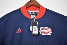 Adidas Mens New England Revolution OFFICIAL MLS Soccer LOGO Full Zip Jacket NEW