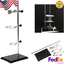 Chemistry Laboratory Support Stand Flask Condenser Distilling Clamp Retort Ring