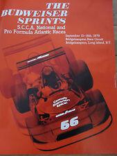 BRIDGEHAMPTON RACE CIRCUIT 1979 BUDWEISER SPRINTS SCCA PRO FORMULA TRACK POSTER