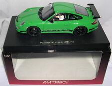 """AUTOART 13212 SLOT CAR PORSCHE 911 GT3 RS (997) """"GREEN ROAD CAR MB"""