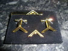 Worshipful Master Cufflink / Tieslide/ lapel pin set, Masonic craft (gold plate)