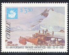 Chile 1981 Antarctic Treaty/Polar/Boats/Map 1v (n31182)
